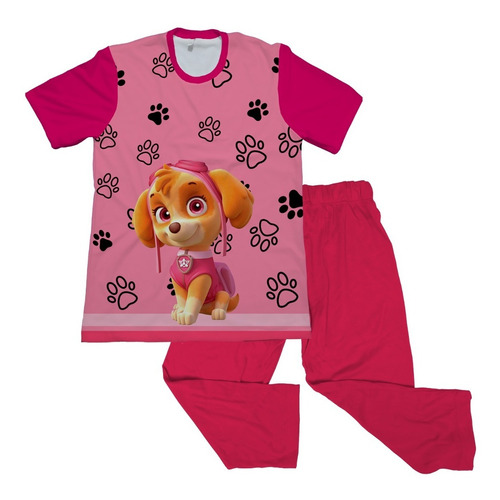 Pijama De Niña Paw Patroll Personalizada
