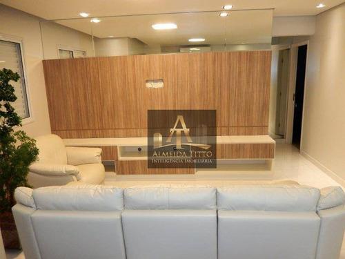 Excelente Apartamento Mobiliado Para Alugar No Edifício Alpha Style - Confira! - Ap2939