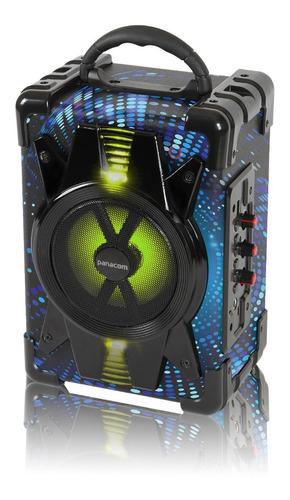 Parlante Portatil Luz Led Bluetooth Recargable Con Microfono