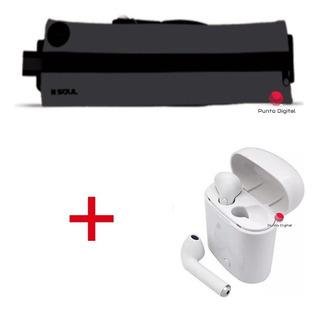 Combo Running Auricular Bluetooth + Riñonera Deportiva Sport