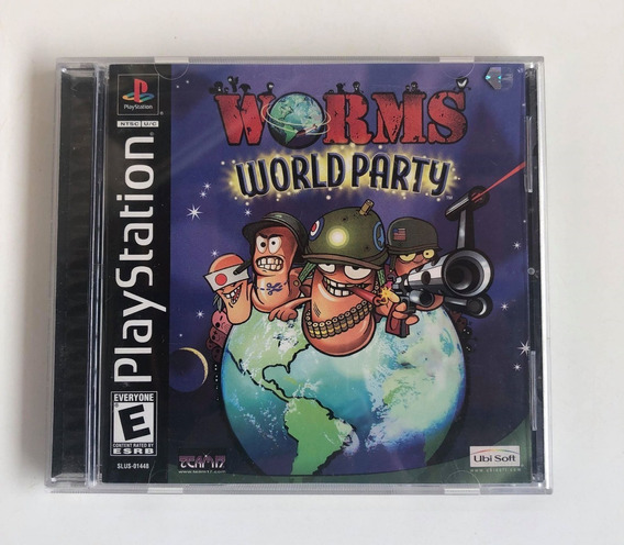 Worms World Party Ps1 Original Americana Black Label