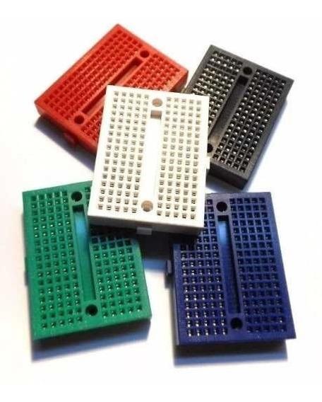 Kit 5 Mini Protoboard Com 170 Pontos, Pic, Arduino Cores Nfe