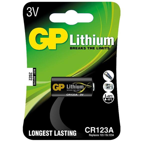 Bateria Gp Lithium Cr123a Photo 3v Blister 1 Unidade