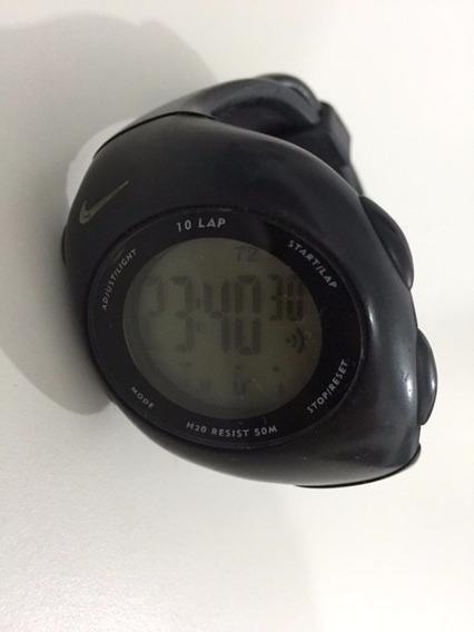 Relógio Preto Nike Original (com Defeito No Visor)