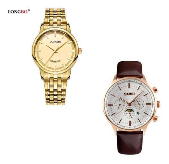 Relógio Masculino Feminino Kit Casal