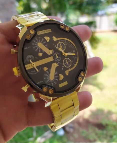 Relógio De Luxo Masculino Dourado Promoção