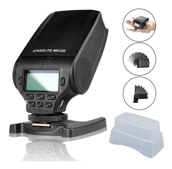 Flash Speedlite Meike Mk320 I-ttl Para Câmeras Nikon