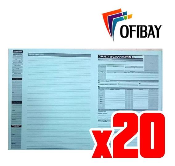 Carpeta Legajo De Personal Oficio X 20 U. Tipo Ad Astra 2250