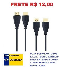 Cabo Hdmi 2 Metros 3d,4k, Ethernet Blindado Frete R$ 12,00