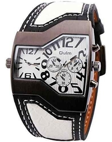 Oulm Moda Casual Reloj De Cuarzo Reloj De Cuero Correa De Cu