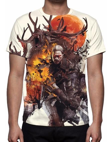 Camisa, Camiseta The Witcher 3 Mod 04 - Estampa Total