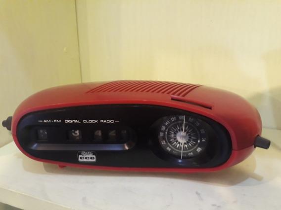 Radio Relogio Cce Pé Palito Vermelho