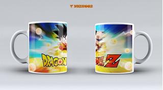 Tazas 11 Oz Dragon Ball Z Regalo, Cotillon, Personalizadas