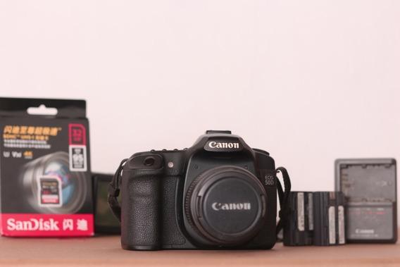 Canon 50d Kit Completo + Cartão Sd 32gb Classe 10 De Brinde