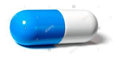 Capsula Vacía Azul / Blanco # 0