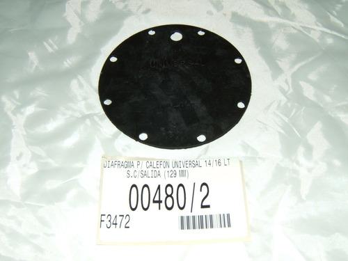 Diafragma 129 Mm Calefon Universal 14 / 16 Litros Con Salida