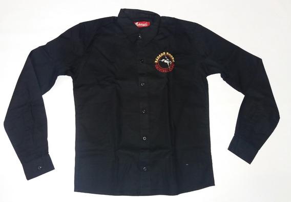 Camisa Infantil Menino Radade Preta Country Social Bordada