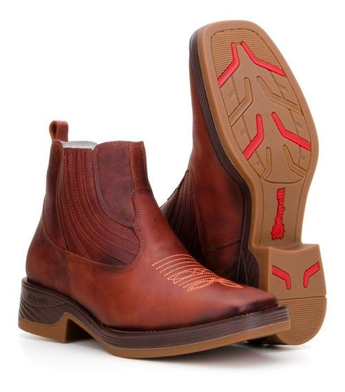 Botina Masculina Texana Country Couro Bota Capelli Boots