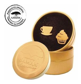 Zarcillos Acero Inoxidable Baño De Oro Saman Coffee Break