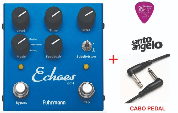 Pedal Fuhrmann Echoes - Tap Delay + Cabo Santo Angelo