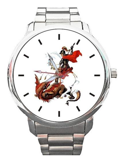 Relógio São Jorge Santo Guerreiro Fé Católico Espirita Relig