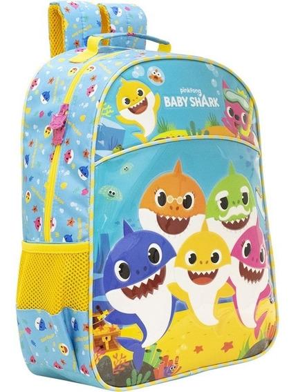 Mochila Infantil Baby Shark Family 9032 Xeryus