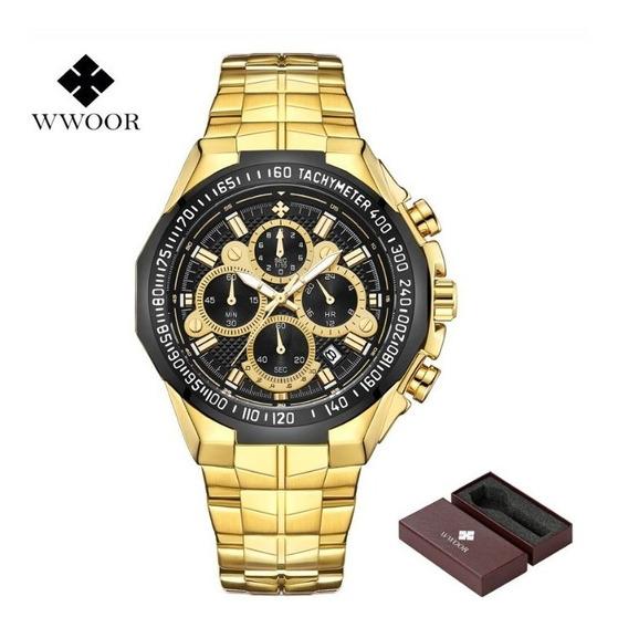 Relógio Masculino Cronógrafo Wwoor Luxo