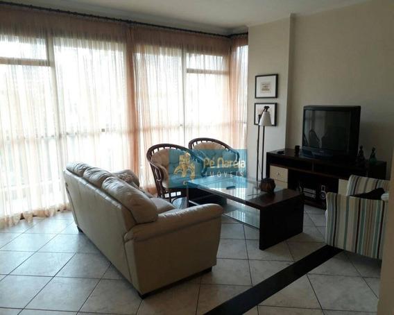 Apartamento Com 3 Dormitórios Para Alugar, 125 M² Por R$ 2.800,00/mês - Canto Do Forte - Praia Grande/sp - Ap0321