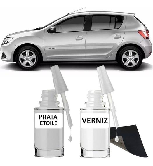Tinta Tira Risco Automotiva Renault Prata Etoile 15ml