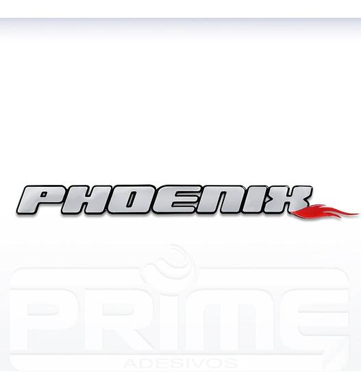 Adesivo Resinado Lancha Phoenix Alto Relevo - Pronta Entrega