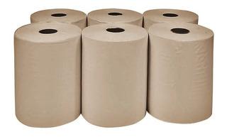4 Rollos Bobinas Papel Tissue Toalla 20cm X 200mts Beige