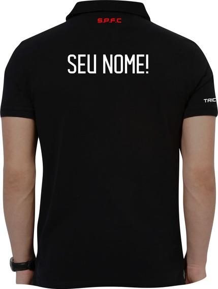 Camisa Polo Personalizada São Paulo Escolha Seu Nome