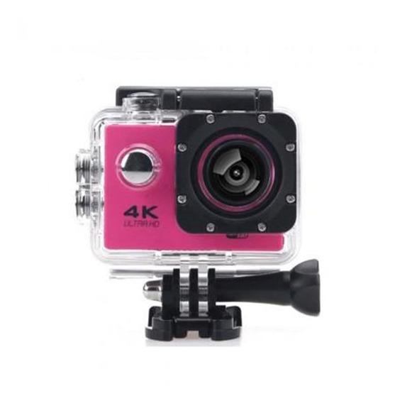 Camera Wifi 4k Rosa Ultra Hd Filmadora 16mp Prova Dagua