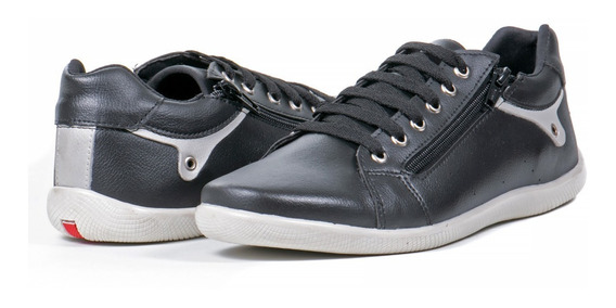 Tenis Sapato Masculino Sapatenis Com Ziper Ajustavel Forrado