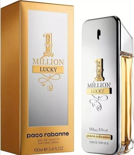 Perfume Loción 1 Million Lucky De Paco - L a $1290
