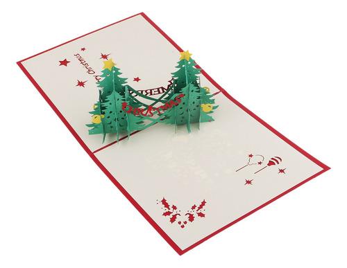 Imagen 1 de 10 de 3d Tarjeta De Felicitaciones De Árbol De Navidad Para