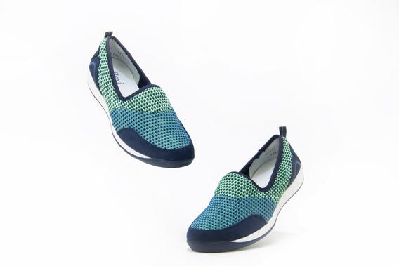 Precio Outlet Zapato Dama Flexi 28307 Azul Verde