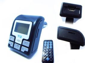 Transmissor Veicular Bluetooth Fm Mp3 + Cabo Auxiliar