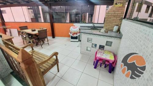 Apartamento Com 2 Dormitórios À Venda, 80 M² Por R$ 340.000,00 - Centro - Guarapari/es - Ap3704
