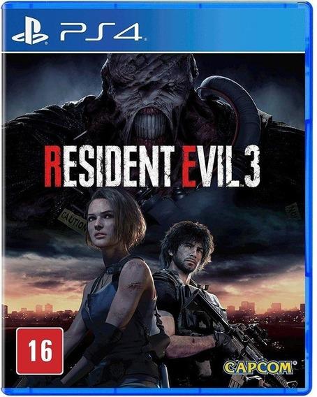 Jogo Resident Evil 3 Ps4 Mídia Física Novo