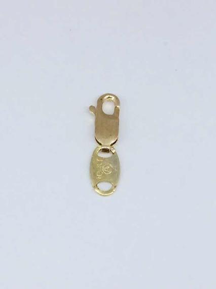 Broche Para Cadena Tipo Perico Con Argolla 1cm X 5mm Oro 10k