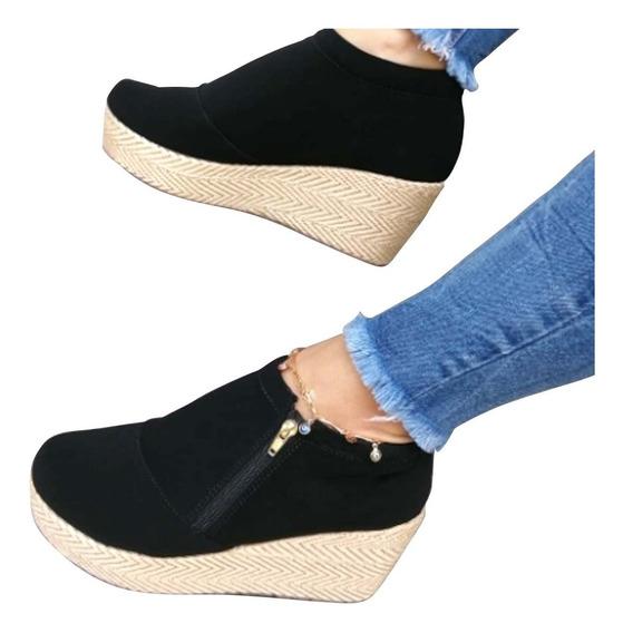 Zapatos Botines Corcho Plataforma Yute Suecos Colombianos