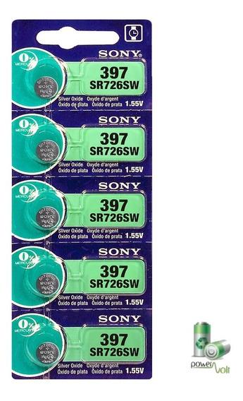 Bateria 397 / 396 Ag2 Sr726sw | Cartela C/05 Pilhas Sony