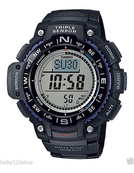 Relógio Casio Sgw 1000 1a Bússola Altímetro Barômetro Termo