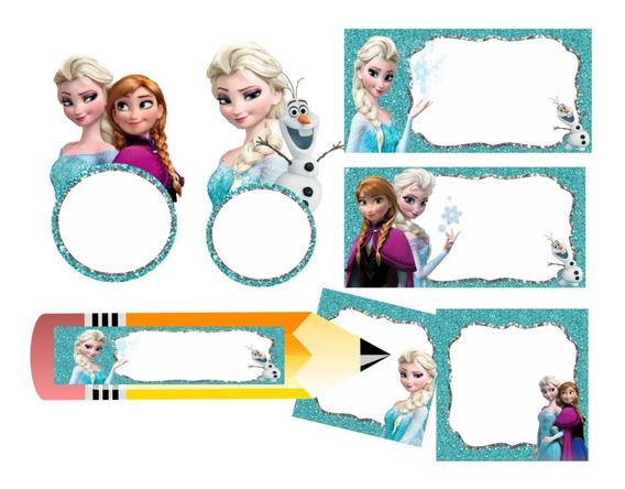 Etiquetas Escolares Editables Frozen 02