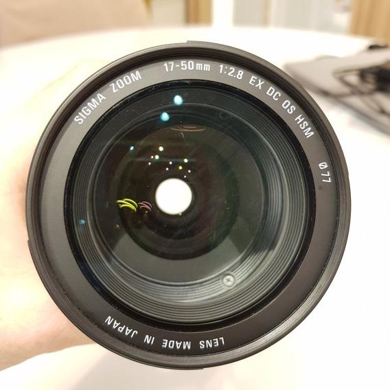 Lente Sigma 17 - 50 Mm 2.8 Dc Os Hsm (canon)