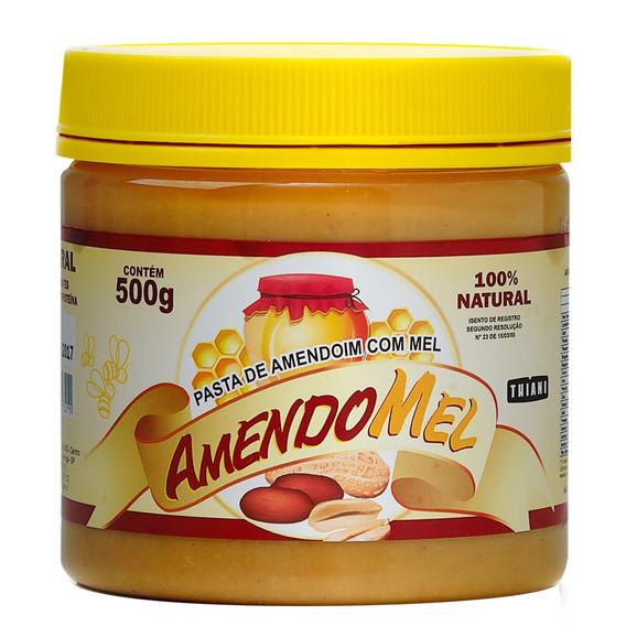 6 Pasta De Amendoim Amendomel 500g Natural Sem Açúcar