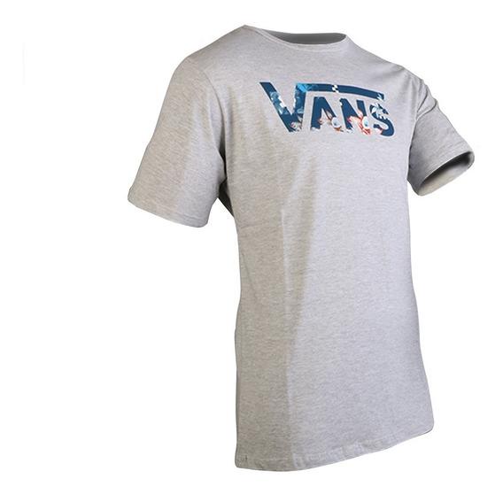 Remera Vans Classic Logo Gris Hombre