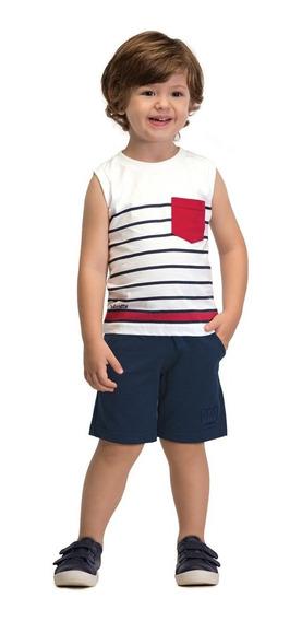 Camiseta Regata Infantil Masculina Colorittá Listras