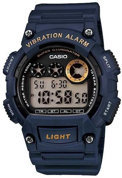 Relógio Casio W-735h-2avdf *alarme Vibratório